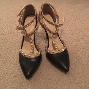 Rue21 black stilettos with studs