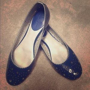 Cole Haan Blue Perforated ballet flats - size 7.5
