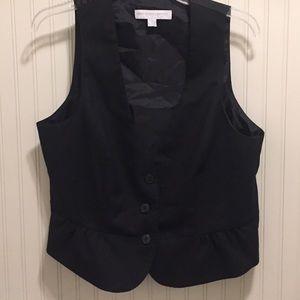 Cute New York and Company pinstripe peplum vest