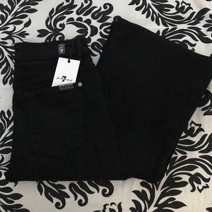 NWT 7 for all Mankind high rise black flare jeans
