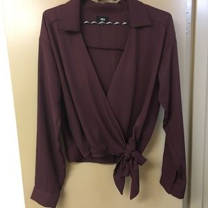 Urban Outfitters Wrap Blouse