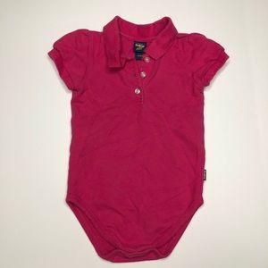 OshKosh Pink Collared Bodysuit