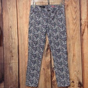 J.CREW TOOTHPICK Floral Jeans size size 26/27