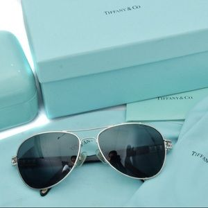 Tiffany & Co Silv Grey Aviator TF3007-B Sunglasses