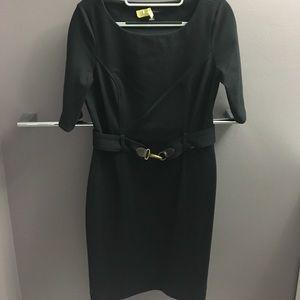 Banana republic black dress with belt