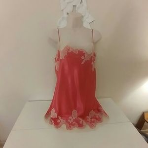 Victoria's Secret lace trimmed chemise nightie