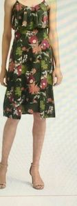 Floral print tiered strappy dress