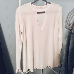 Urban Outfitters white long sleeve top