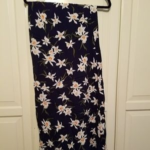 Old Navy blue floral maxi skirt.