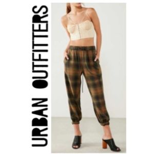 NWT Urban Outfitters BDG Plaid Joggers