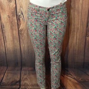 J.CREW TOOTHPICK Floral Jeans size 27/28