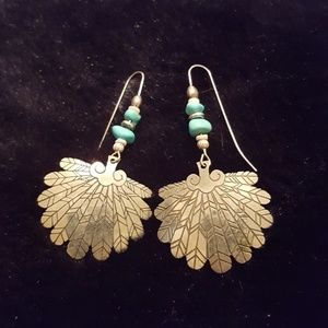 Southwestern silver earrings