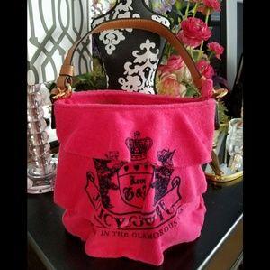 Hot Pink JUICY COUTURE Ruffle Tote Handbag