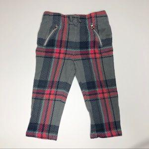 Plaid Faux Drawstring Pants