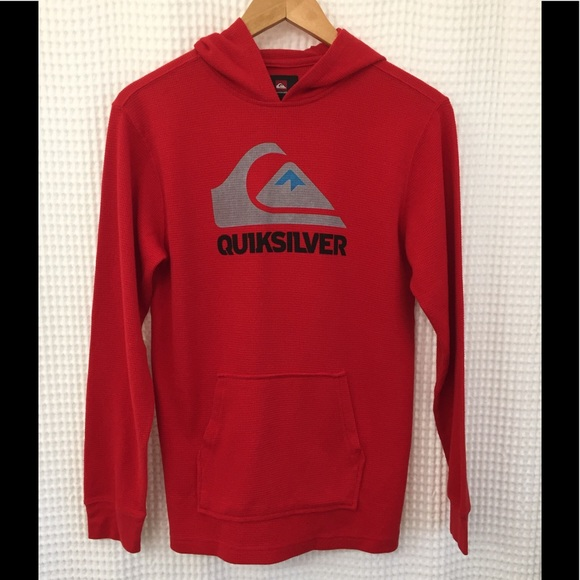 4f496941be72 Boys Quiksilver long sleeve hooded waffle tee. M 59ed28e02ba50a502c0a72c2
