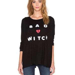 WILDFOX BAD WITCH EFFORTLESS THERMAL TEE SMALL
