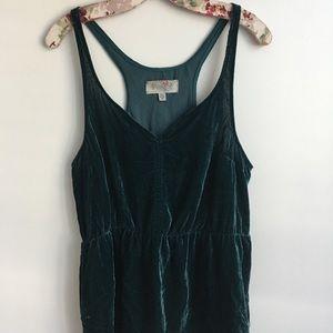 Women's Urban Outfitters Dark Green Velvet Top