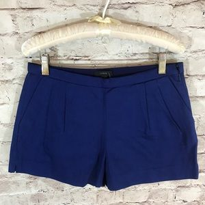 NWT J. Crew Pleated Shorts In Cotton Pigue