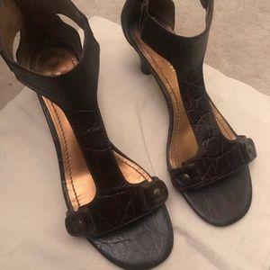 Nine West Brown Sandal Heels Size 7