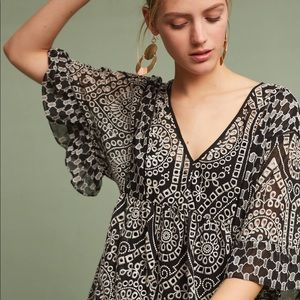 Anthropologie eyelet dress