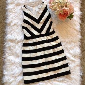 Ann Taylor Loft Black White Stripe Dress