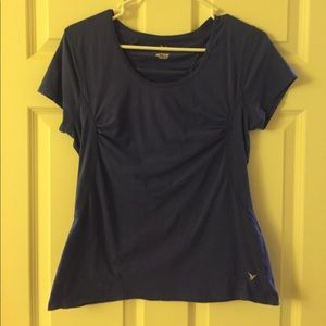 Old Navy blue active tee with ruching
