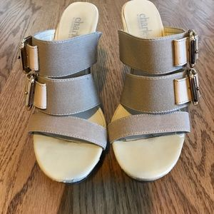 Charles David Buckle Detail Wedge Sandal