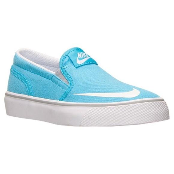 ef7610e5dc9b Nike Baby Blue Toki Slip on Sneakers