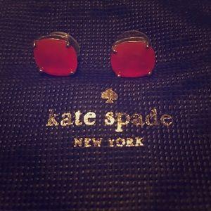 Kate Spade Bright Orange Studs!