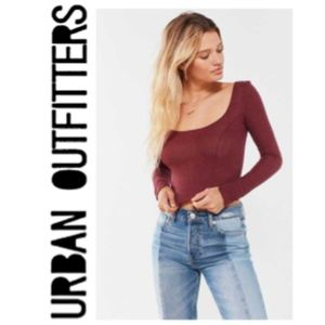NWT Urban Outfitters Ribbed Long Sleeve Crop Top