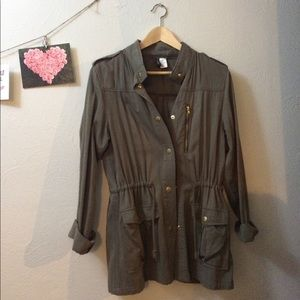H&M Army Jacket in Olive Green