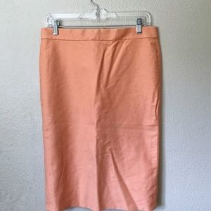 Peach J. Crew pencil skirt