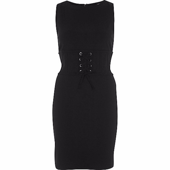 River Island Dresses A56 Black Corset Bodycon Dress Us 8 Poshmark