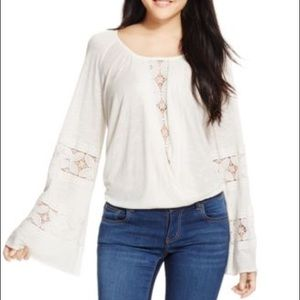 Tops - Lace Bell Sleeve Top