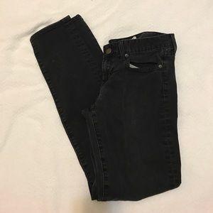 JCREW toothpick ankle jeans in black