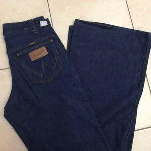 new vtg 70s 80s wrangler bell bottom jeans 25/26