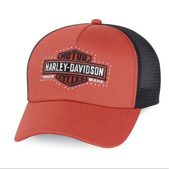 670f805f494bf Harley-Davidson Women s Bar   Shield Trucker Cap