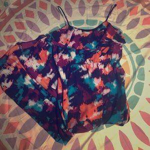 LOFT Watercolor Maxi Dress 12