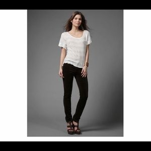 Adriano Goldschmied The Stilt black velvet jeans
