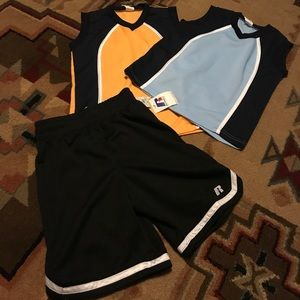 Other - Boys 2 tops and shorts new!!