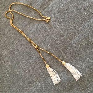 Tassel lariat necklace