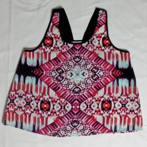 Xhilaration Multi-Colored Print top