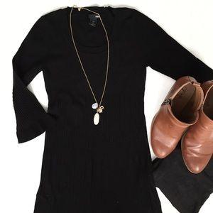 H&M Black Sweater Mini Dress