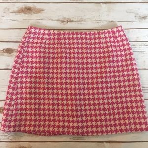 Lilly Pulitzer Size 8 Mini Skirt Houndstooth