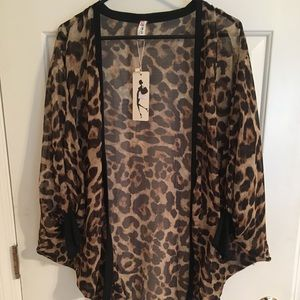 Leopard batwing kimono. New
