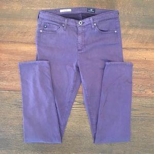 Purple AG The Prima mid-rise Cigarette Jeans