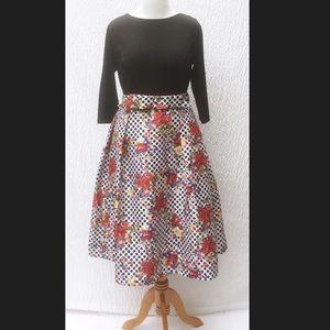 New Eshakti Polka Dot Fit Flare Dress 18W