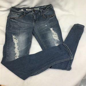 Mossimo Supply Distressed Skinny Jeans Junior Sz5