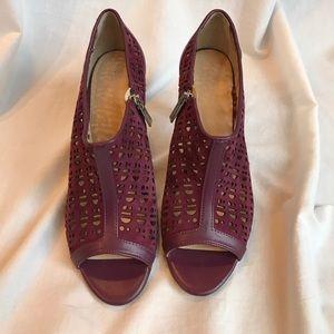 Calvin Klein Purple Open-toe Heels with Zipper