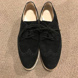 Cole Haan black suede shoes women's - 9.5